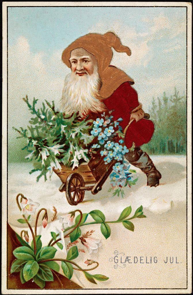 Рождественская открытка из Норвегии начало 20 века - Stone Forest