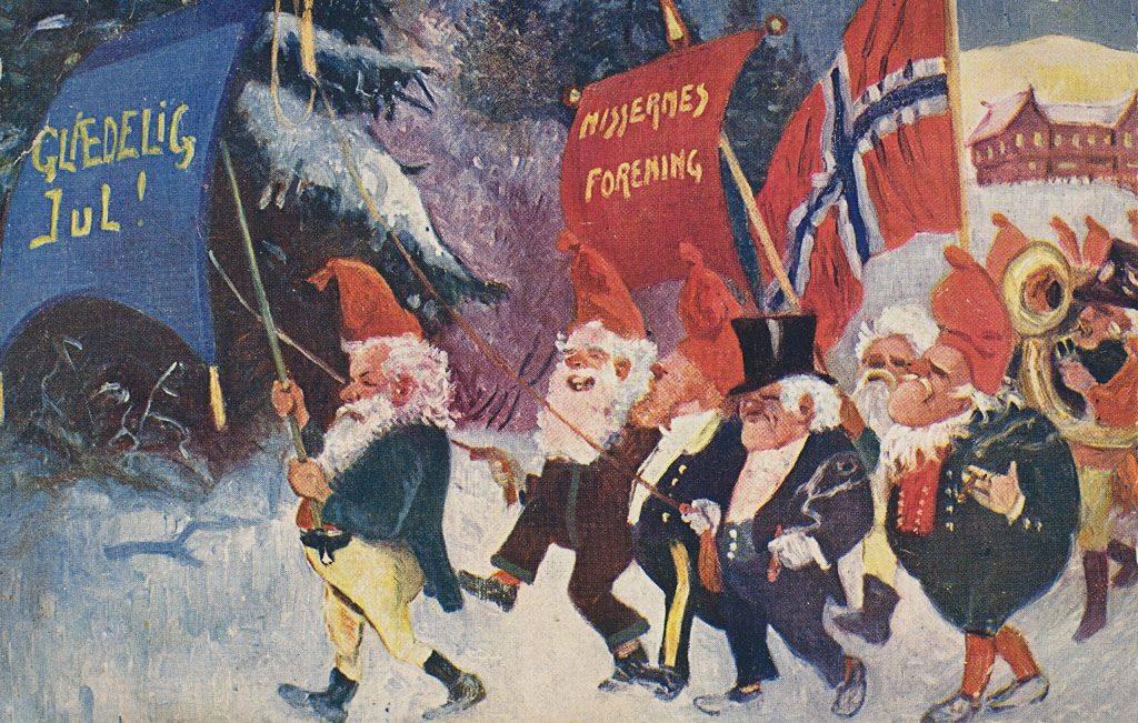 Рождественская открытка из Норвегии ХХ век - Stone Forest