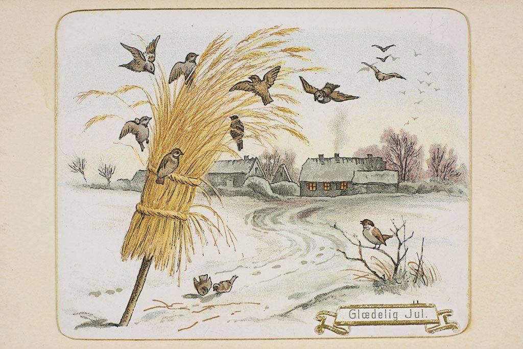 Рождественская открытка из Норвегии начало ХХ века - Stone Forest
