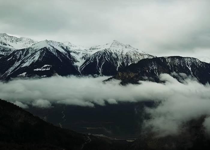 Город Альбинен Швейцария - Stone Forest