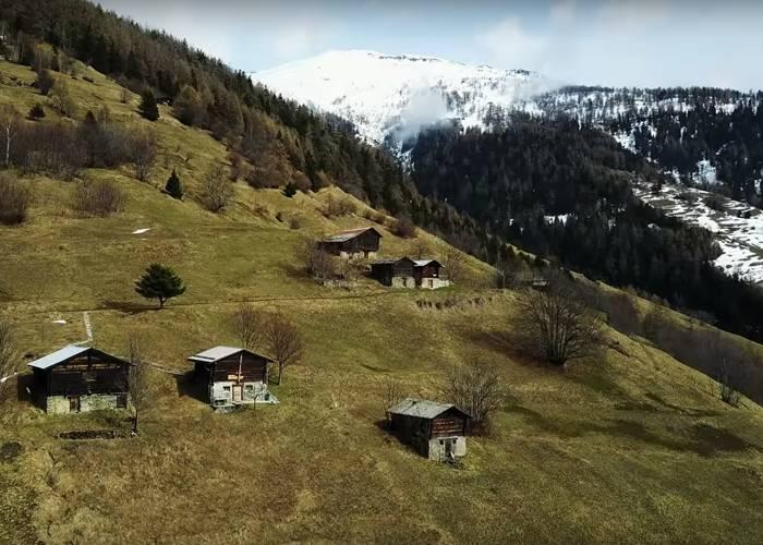 Городок Альбинен Швейцария - Stone Forest