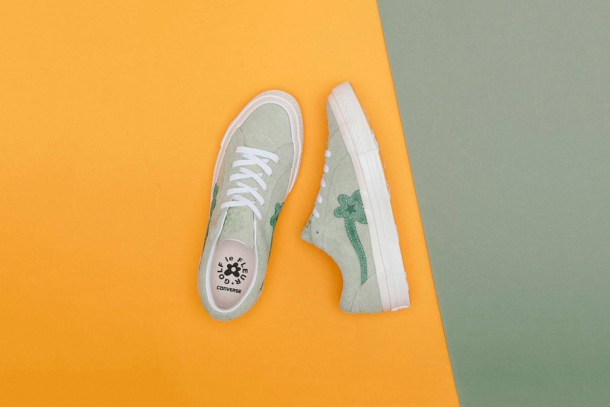 Кеды Converse × Tyler The Creator «GOLF le FLEUR*» - Stone Forest