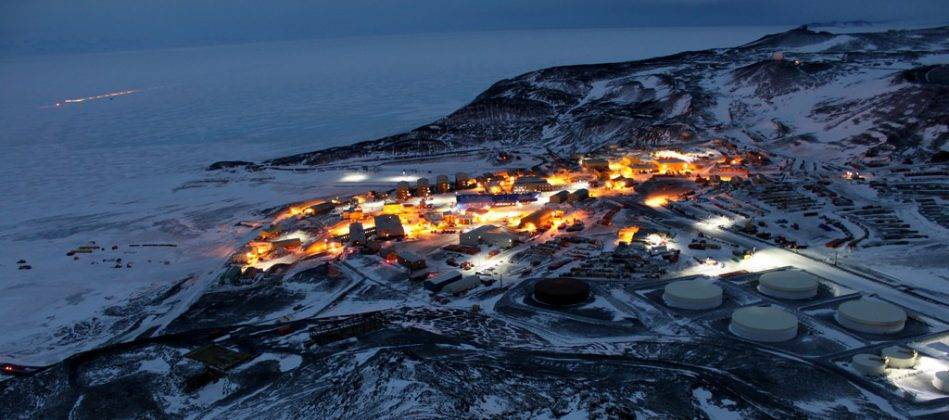Станция в Антарктиде Мак-Мердо - Stone Forest