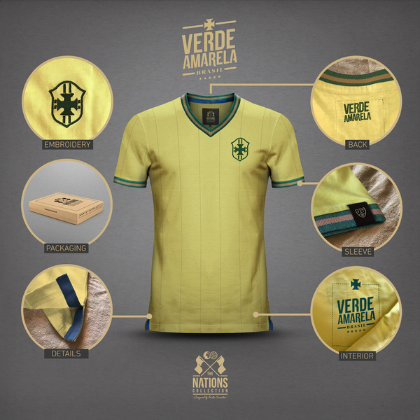 Vintage Football Town Brazil - Stone Forest
