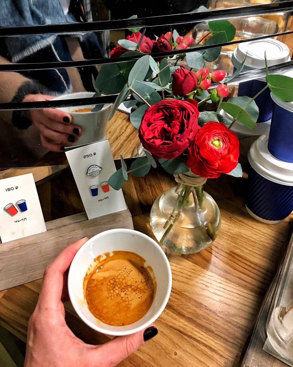 Кофейня Человек и Пароход (ЧИП) на Даниловском рынке