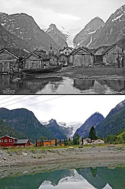 Ретро фотографии Норвегии - Stone Forest