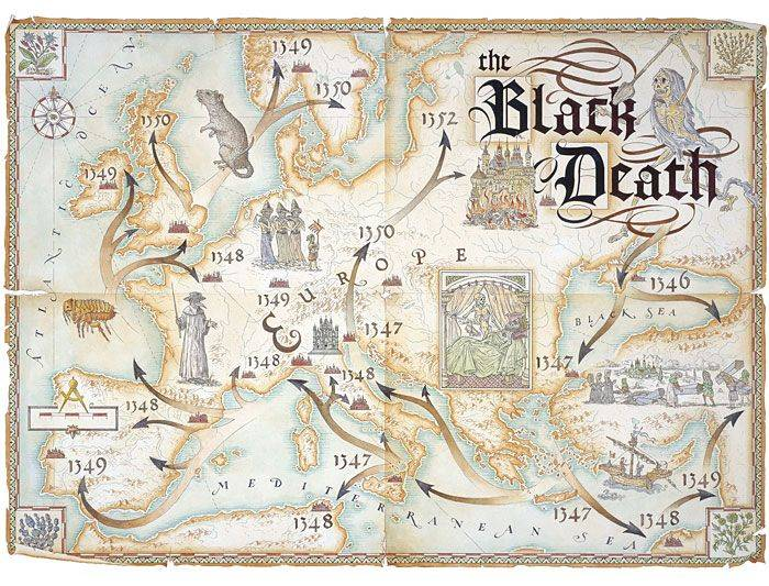 an analysis of the black plague diseases during the middle ages