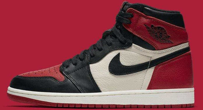 Air Jordan 1 Retro High OG 'Bred Toe' - Stone Forest