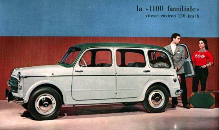 Плакат Fiat 1100 - Stone Forest