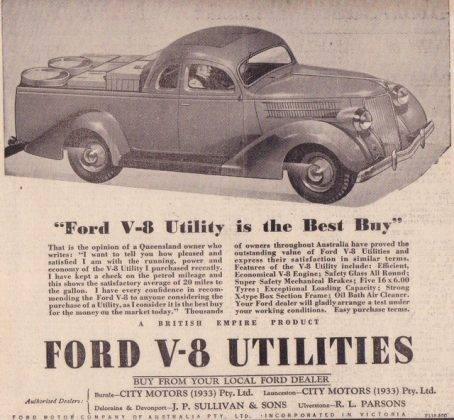 Ford V8 adv - Stone Forest