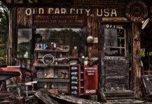 Город старых машин США - Stone Forest