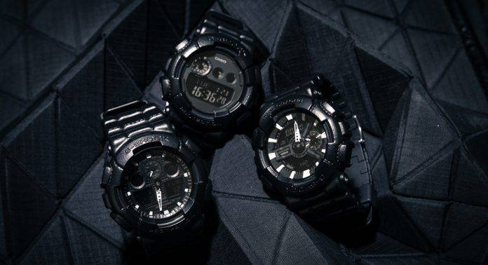 G-SHOCK BLACK LEATHER TEXTURE - Stone Forest