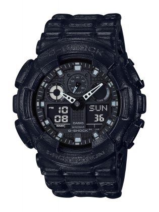 Модель G-SHOCK BLACK LEATHER TEXTURE - Stone Forest