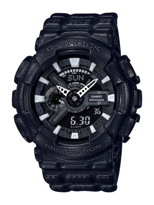 Аксессуар G-SHOCK BLACK LEATHER TEXTURE - Stone Forest