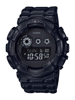 Часы Casio G-SHOCK BLACK LEATHER TEXTURE - Stone Forest