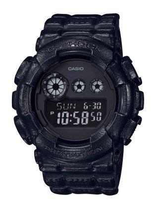 Часы Casio G-SHOCK BLACK LEATHER TEXTURE - Stone Forest