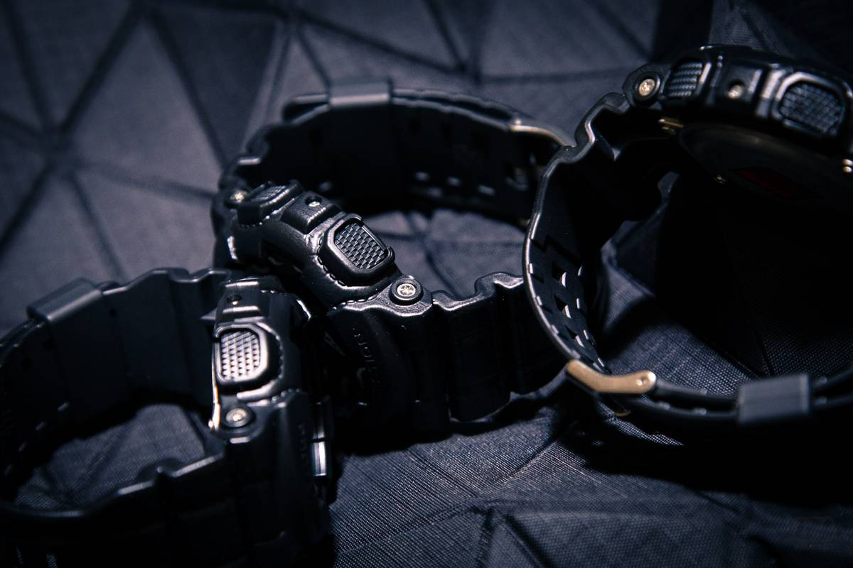Casio G-SHOCK BLACK LEATHER TEXTURE - Stone Forest