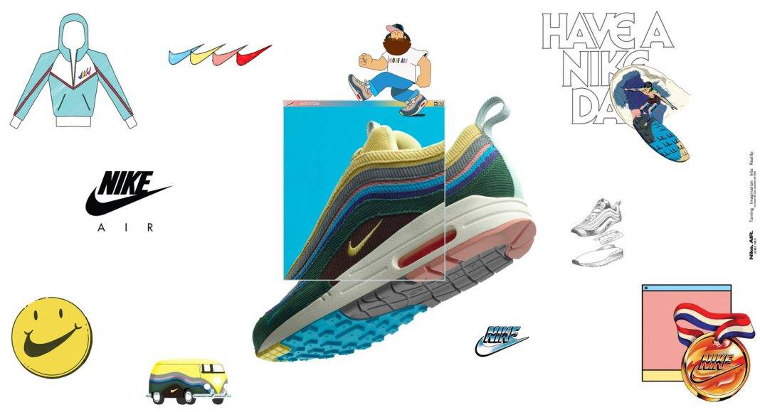 Кроссовки Nike Air Max 1/97 SW - Stone Forest
