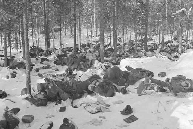 Погибшие советские солдаты в бою 1 февраля 1940 года - Stone Forest