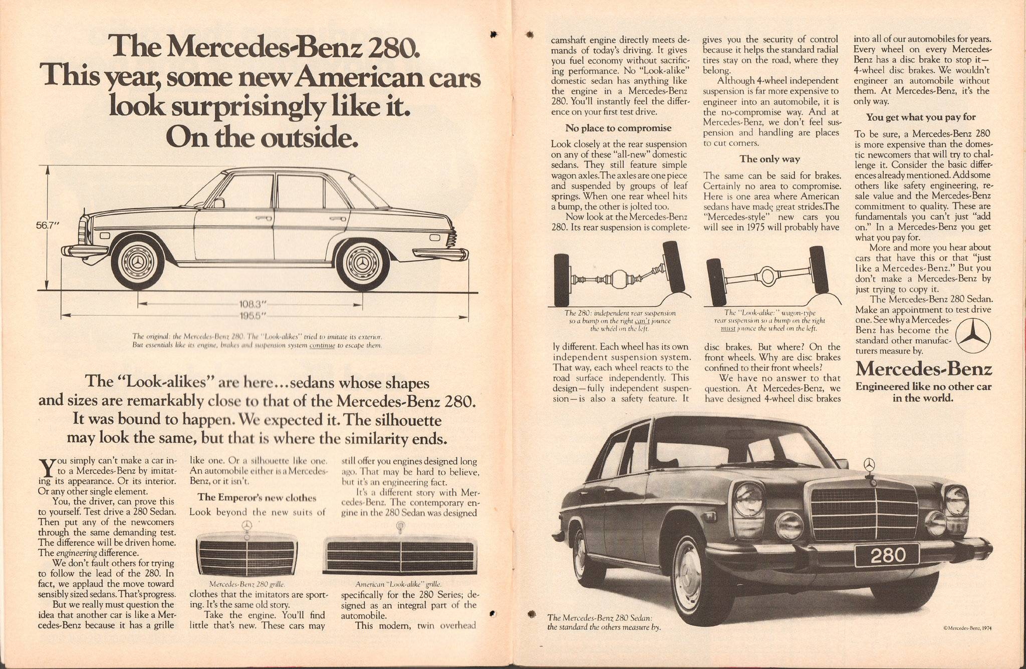 Модель авто Mercedes-Benz 280 - Stone Forest
