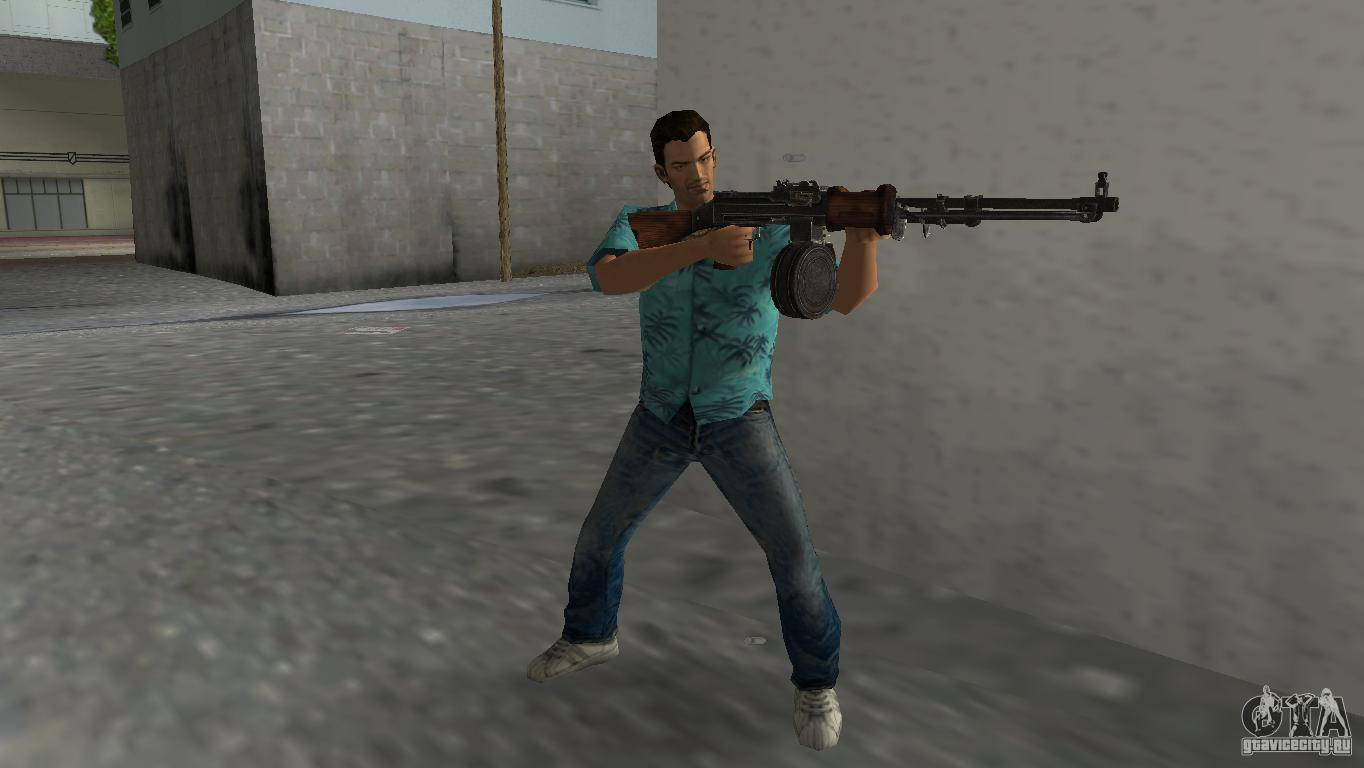 Пулемет Дегтярева в GTA - Stone Forest