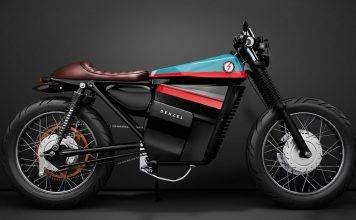 Denzel Model ELectric Cafe Racer 1 - Stone Forest