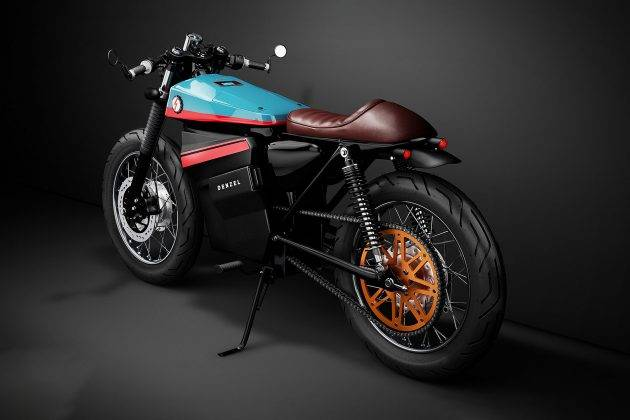 Мото Denzel Model ELectric Cafe Racer 1 - Stone Forest