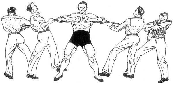 Как удерживать тягу четверых взрослых мужчин - Stone Forest