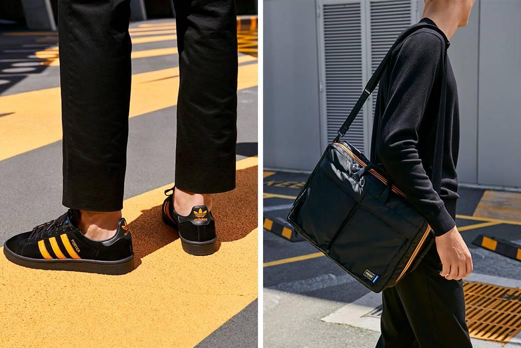 Коллаборация adidas Originals × PORTER — кроссовки и сумки в лаконичном стиле