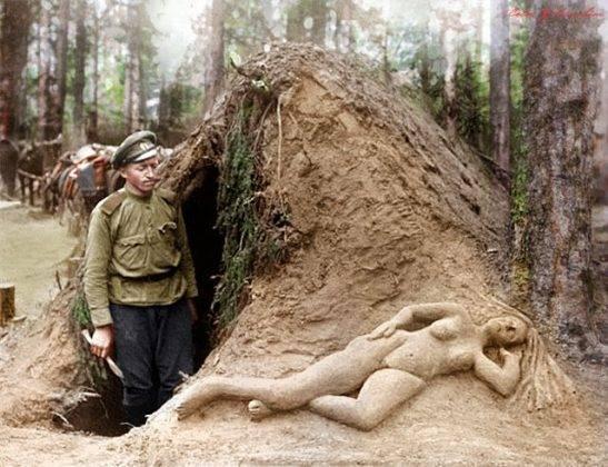 Разведчик Алексеев и его скульптура из сырого песка - Stone Forest