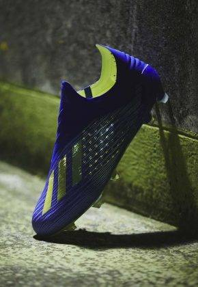 "Футбольные бутсы adidas Launch The X 18+ ""Energy Mode"" - Stone Forest"