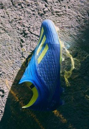 """Футбольные бутсы adidas Launch The X 18+ """"Energy Mode"""" - Stone Forest"""