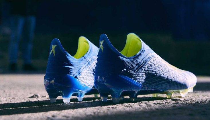 "Бутсы adidas Launch The X 18+ ""Energy Mode"" - Stone Forest"