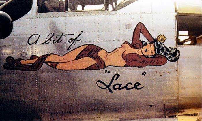 Рисунок девушки на борту самолета - Stone Forest