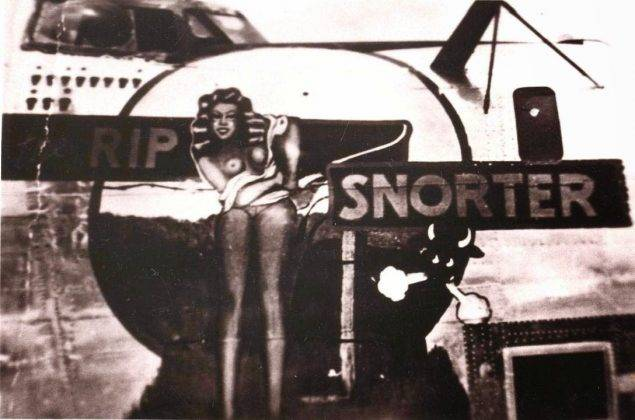 Рисунки голых девушек на борту самолета - Stone Forest