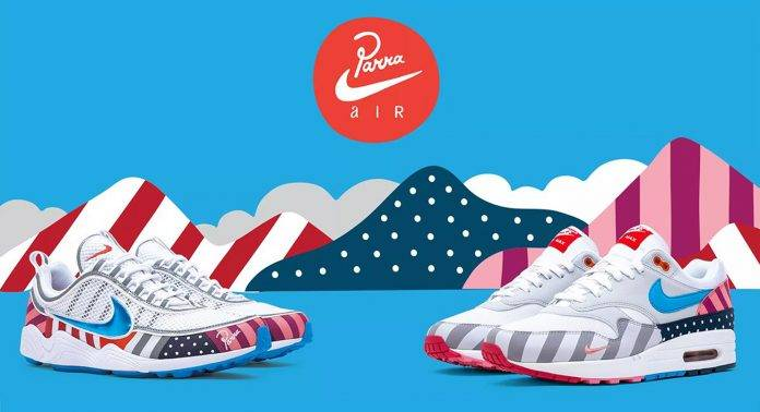 Nike x Parra Air Max 1 и Zoom Spiridon - Stone Forest