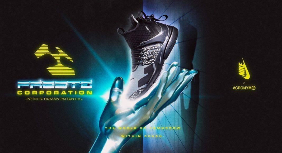 ACRONYM x Nike Air Presto Mid - Stone Forest