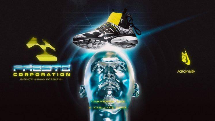 Кроссовки ACRONYM x Nike Air Presto Mid - Stone Forest