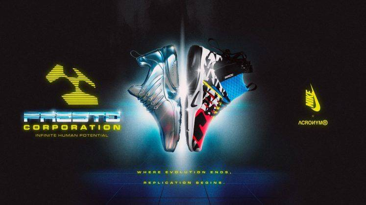 Релиз ACRONYM x Nike Air Presto Mid - Stone Forest