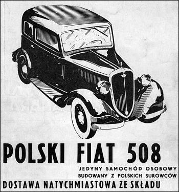 Автомобиль Фиат 508 - Stone Forest