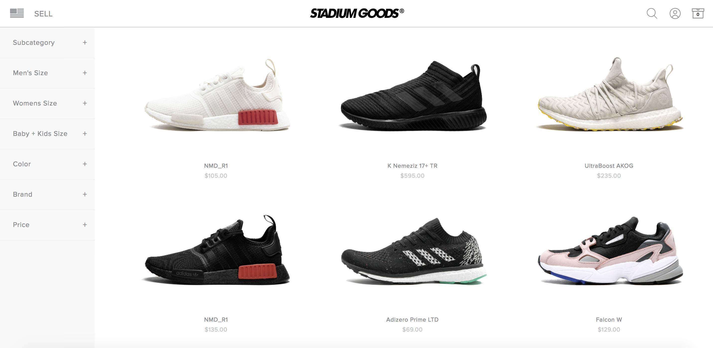 Магазин Stadium Goods — от $30 до $45000 за кроссовки