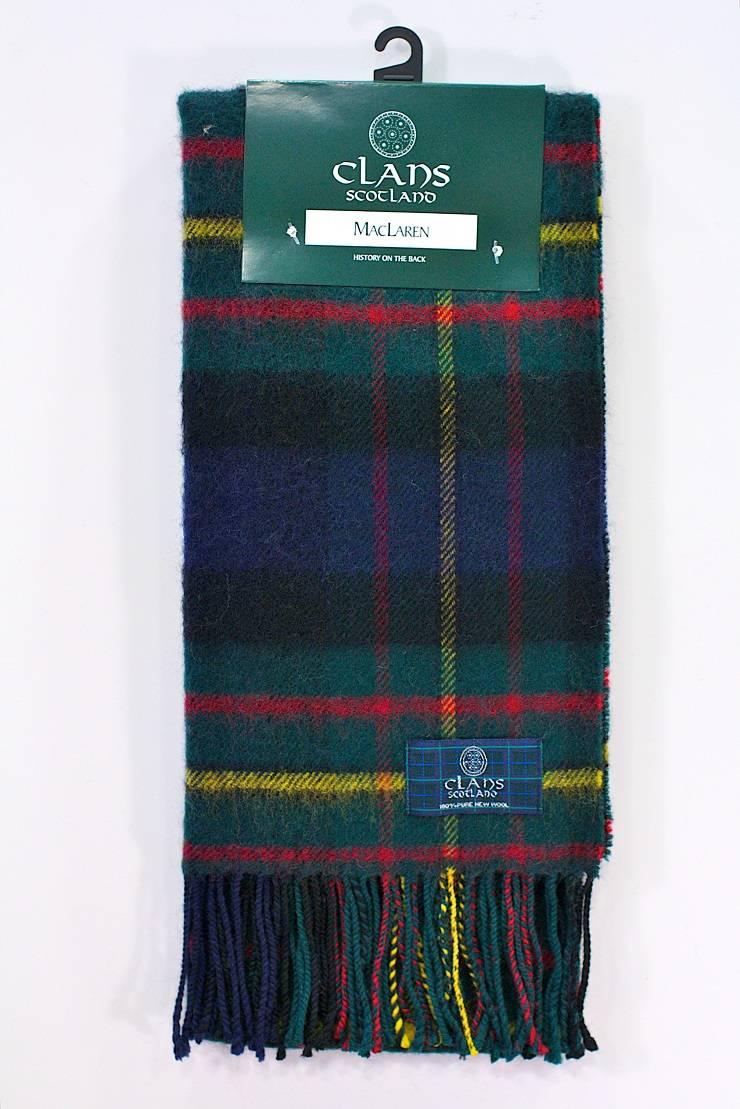 Clans of Scotland Шотландский шарф в клетку - Stone Forest