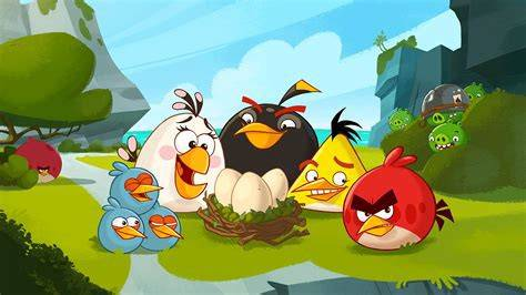 Игра ANGRY BIRDS 2009 - Stone Forest