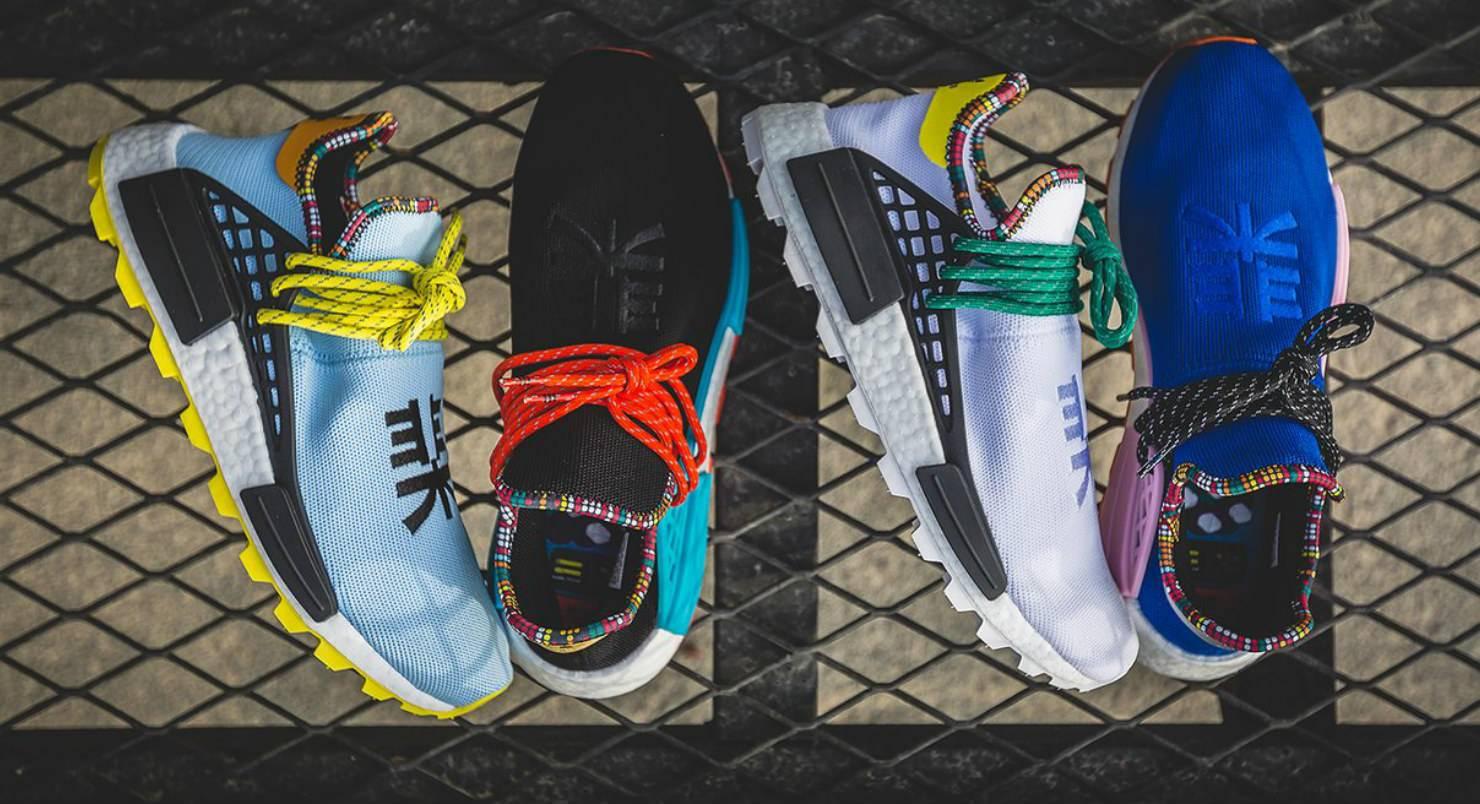 кроссовки adidas x pharrell williams hu