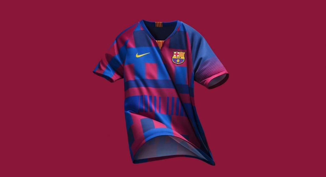 Футбольная форма Nike Барселона - Stone Forest