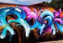 Rasko graffiti - Каменный лес Stone Forest