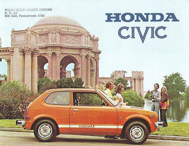 Honda Civic 1974 Соитиро Хонда - Каменный Лес Stone Forest