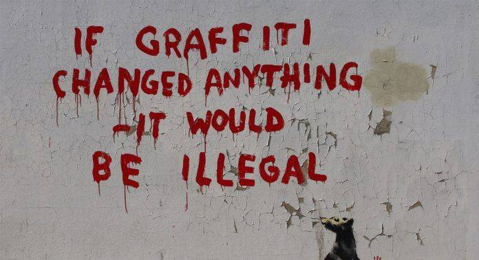 banksy If Graffiti changed anything, it would be illegal - Каменный лес Stone Forest