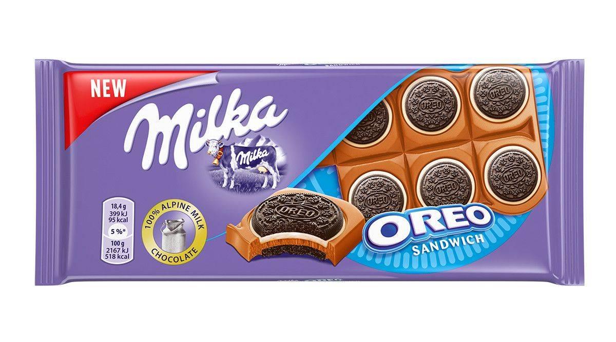шоколад Milka совместно с брендом Oreo