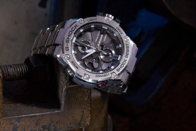 Мужские часы Casio G-SHOCK GST-B100G-2A, GST-B100XB-2A и GST-B100D-1A - Каменный лес Stone Forest
